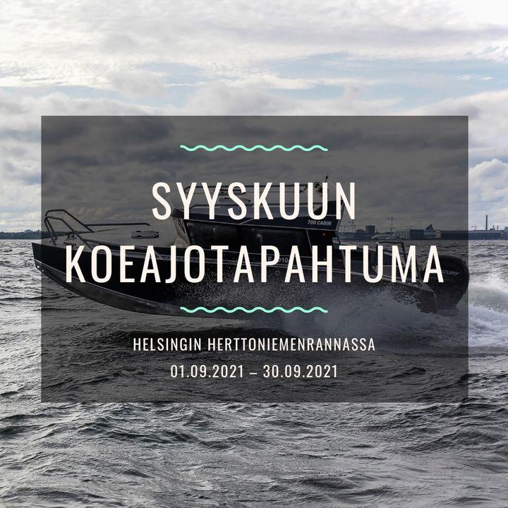 SYYSKUUN KOEAJOTAPAHTUMA HELSINGIN HERTTONIEMENRANNASSA 01.09.2021 – 30.09.2021